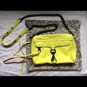 Rare Rebecca Minkoff Mini Mac Yellow Black hardwar